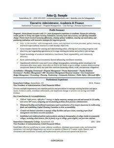 An academia or educational resume for a professor, higher ed or educational administrator.